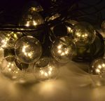 Влагозащищенная Ретро гирлянда на витом проводе 10м 20 Led ламп