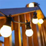 Влагозащищенная Ретро гирлянда с матовыми шарами 10м 20 Led ламп