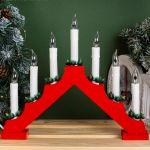"""Фигура """"Рождественская горка"""" 7 свечей (эффект огня)"""