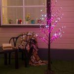 Светодиодное дерево 1,5м с мерцанием Розовый