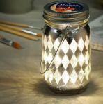 Декоративная ваза с гирляндой на батарейках