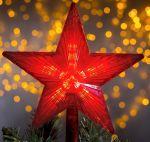 """Фигура """"Звезда на елку"""" 22см 30Led Красный"""
