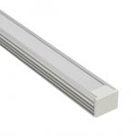 Накладной алюминиевый профиль (высота 12мм ширина 16мм) с рассеивателем (2м)