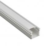 Накладной алюминиевый профиль Высокий с рассеивателем (2м)