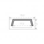 Накладной алюминиевый профиль Micro с рассеивателем 2м
