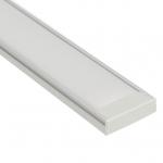 Накладной алюминиевый профиль Широкий (24мм) с рассеивателем 1м