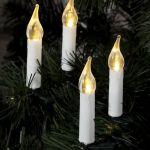 Светодиодная гирлянда Свечи на елку на прищепках 10м 50Led