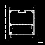 Подвесной алюминиевый профиль 50мм*50мм