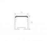 Накладной алюминиевый профиль 35х35мм с рассеивателем (2м)