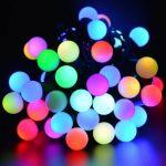 """Влагозащищенная гирлянда """"Радуга"""" 7.5м 50Led RGB шарик 18мм"""