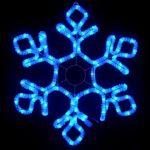 """Светодиодная """"Снежинка"""" из дюралайта 79х69 см Premium"""