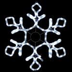 """Светодиодная """"Снежинка"""" из дюралайта с мерцанием 79х69 см Premium"""