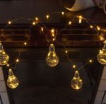 """Светодиодная гирлянда """"Лампы"""" на батарейках 100Led 10 ламп 4м"""