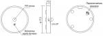 Беспроводный мебельный светодиодный светильник с датчиком движения