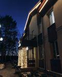 Обрамление колонн гирляндой Занавес (Скандинавский парк-отель Elovoe)