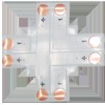 Гибкая соединительная плата Х-образная для ленты SMD5050