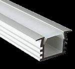 Высокий встраиваемый алюминиевый профиль (ширина 22мм высота 12мм) с рассеивателем