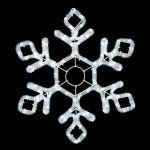 """Светодиодная """"Снежинка"""" из дюралайта мерцающая 60х50 см Premium"""