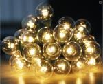 Влагозащищенная гирлянда Белт-лайт на черном ВИТОМ проводе со светодиодными лампами