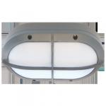 Светодиодный влагозащищенный светильник Овал с решеткой