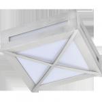 Светодиодный влагозащищенный светильник Квадрат с решеткой