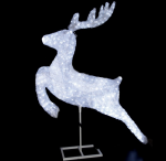 """""""Светодиодный олень в прыжке"""" из акрила 144 см"""