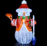 """Светодиодная объемная фигура """"Снеговик с метлой и лопатой"""" 1.7м"""
