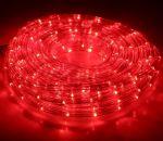 Комплект 2-х жильный дюралайт круглого сечения Красный 20м с контроллером