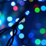 Влагозащищенная Гирлянда Светодиодный занавес 2х1.5м RGB (7 цветов)