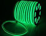 Комплект гибкий светодиодный неон 50м с сетевым шнуром Зеленый