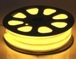 Комплект гибкий светодиодный неон 20м с сетевым шнуром Желтый