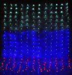 Гирлянда Светодиодный дождь 2х1,5м Флаг России