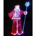 """Светодиодная объемная фигура """"Дед Мороз"""" 2.2м"""