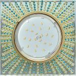 Потолочный декоративный светильник GX53 Квадрат со стразами