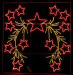 """Светодиодный мотив подвесной  """"Красные звезды"""""""