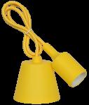 Патрон Е27 со шнуром 1м Желтый