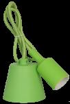 Патрон Е27 со шнуром 1м Зеленый