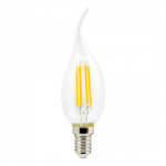 "Светодиодная лампа ""свеча на ветру прозрачная"" 5Вт Е14"