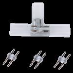 Внутренний коннектор для ленты 220V 12x7мм плата T для зажим разъема + 3 зажима 2-х контактных