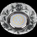 """Встраиваемый светильник MR16 LD7071 искристый с подсветкой """"Розы"""""""