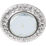 """Потолочный светильник GX53 H4 Круг с подсветкой """"Кристалл"""" LD7009"""