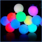 """Светодиодная гирлянда """"Радуга"""" RGB шарики (25мм) быстрая смена цветов 10м"""
