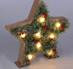 "Фигура деревянная ""Звезда хвоя"" на батарейках 3хАА"