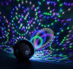 """Световой проектор """"Радужный шар"""" 17см с музыкой"""