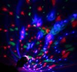 """Лампа-проектор  """"Хрустальный шар"""" (вращающаяся лампа)"""