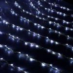 """Влагозащищенный светодиодный """"Дождь"""" 3х2м с динамикой Белый (на прозрачном проводе)"""