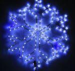 """Светодиодная """"Снежинка"""" Бело-синяя с мерцанием 69см"""