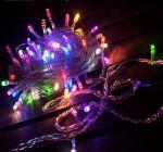 Светодиодная гирлянда-нить 5,2м 50Led RGB (7 цветов)