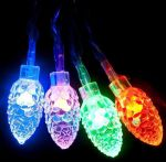 """Светодиодная гирлянда """"Радуга"""" RGB шишки (прозрачные) 7.5м"""