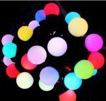 """Светодиодная гирлянда """"Радуга"""" RGB крупные шарики (40 мм) 5м"""